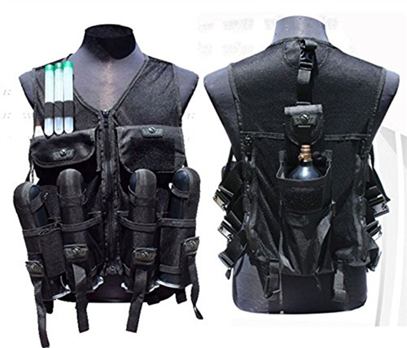 TRINITY Tactical Mesh Vest with 4 Harness and Tank Pouch